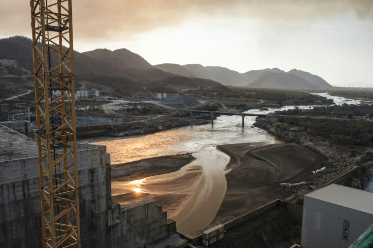 The Blue Nile flowing through the Grand Ethiopian Renaissance Dam. The project is passionately supported by the Ethiopian public despite the tensions it has stoked with Egypt and Sudan downstream