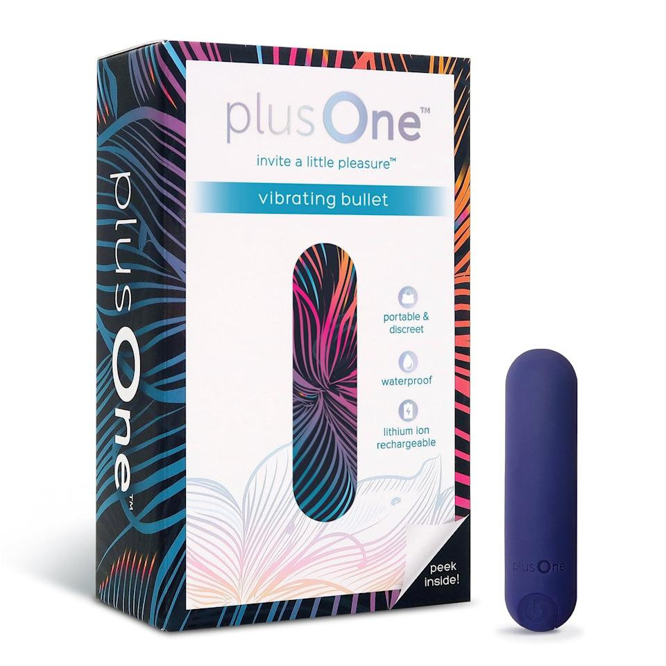 <p>Small, affordable, and full of pleasure, this <span>PlusOne Vibrating Bullet Massager</span> ($10) features 10 different vibration settings! It's also completely waterproof, so you can use it in the bath or shower.</p>