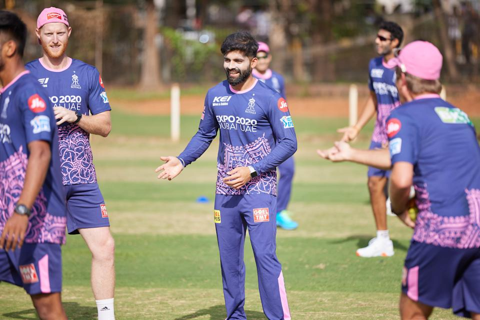 Ben Stokes in training with the Rajasthan RoyalsRajasthan Royals