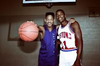 <p>Will Smith and Isiah Thomas in 1990.</p>
