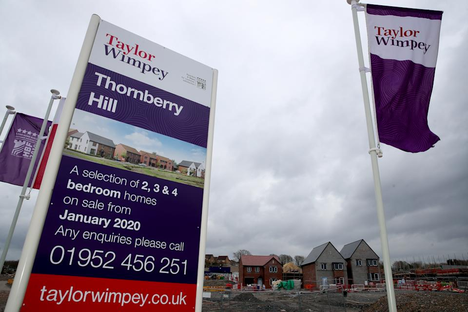 A Taylor Wimpey housing development in Telford where building work has ceased as the UK continues in lockdown to help curb the spread of the coronavirus.