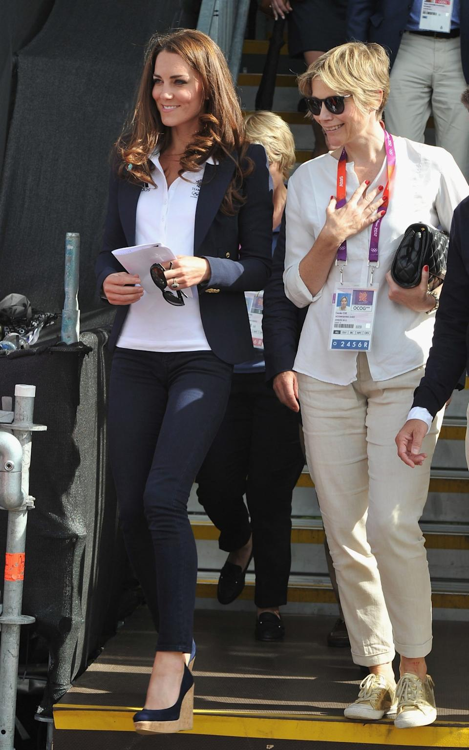 The Duchess of Cambridge at the London 2012 Olympics - Getty