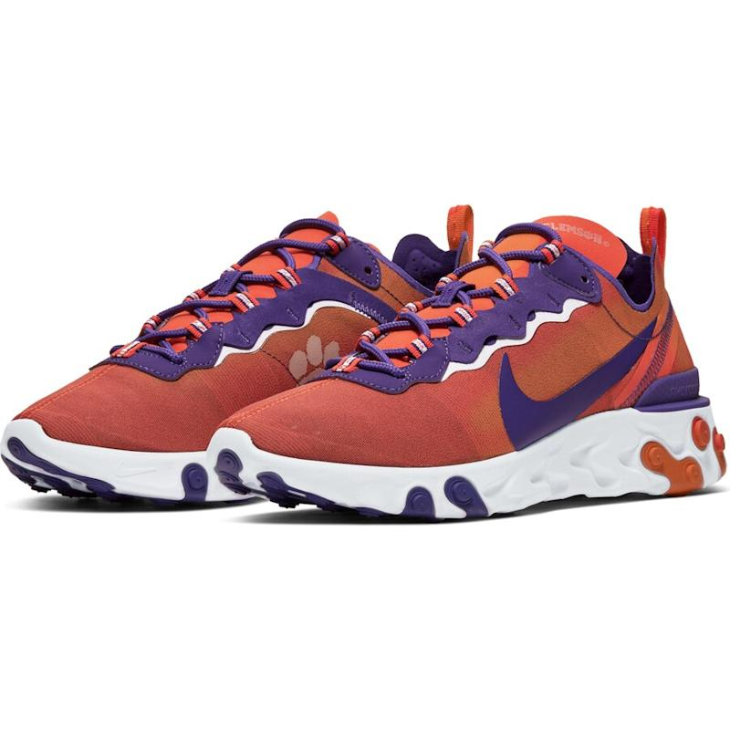 Clemson Tigers React Element 55 Sneakers
