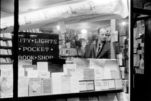 Ferlinghetti at City Lights.