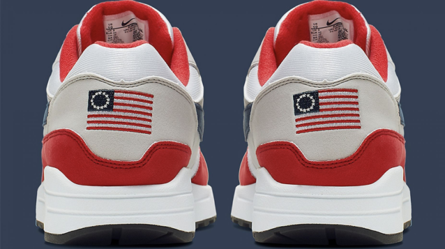 "A Tennessee minor league baseball team has waded into the controversy over recalled ""Betsy Ross flag"" Nikes. (Nike)"