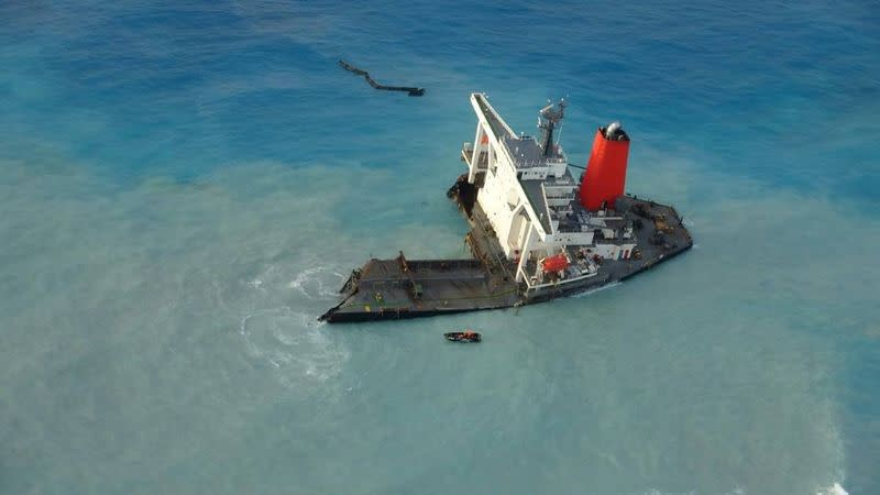 Japan ship deviated from shipping lane before Mauritius impact, data shows