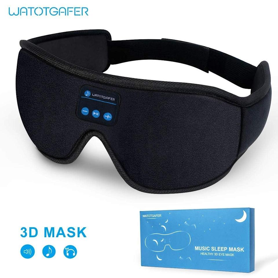 <p>Help them get a good nights sleep with the <span>Sleep Headphones and Eye Mask</span> ($20, originally $23). It has padding to cushion their eyes for ultimate comfort. </p>