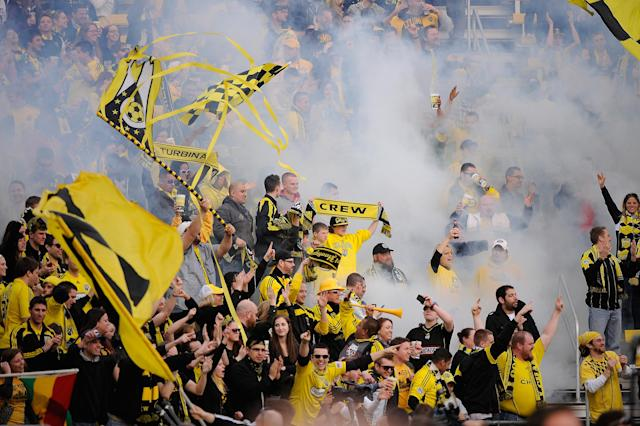 "<a class=""link rapid-noclick-resp"" href=""/soccer/teams/columbus-crew/"" data-ylk=""slk:Columbus Crew"">Columbus Crew</a> fans have kickstarted a grassroots movement that has spread across the United States. (Photo by Jamie Sabau/Getty Images)"