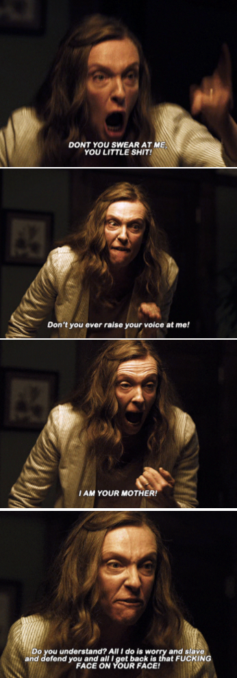 Annie yelling at her kid with great passion for being mean to her