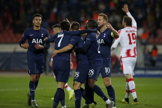 Tottenham are well placed in the Champions League (Marko Drobnjakovic/AP)