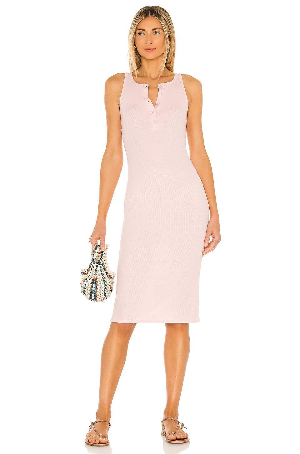 <p>The <span>Lovers + Friends Celeste Midi Dress in Blush Pink</span> ($65, originally $158) is such a cute brunch dress. It's casual, comfy, and super flattering. </p>