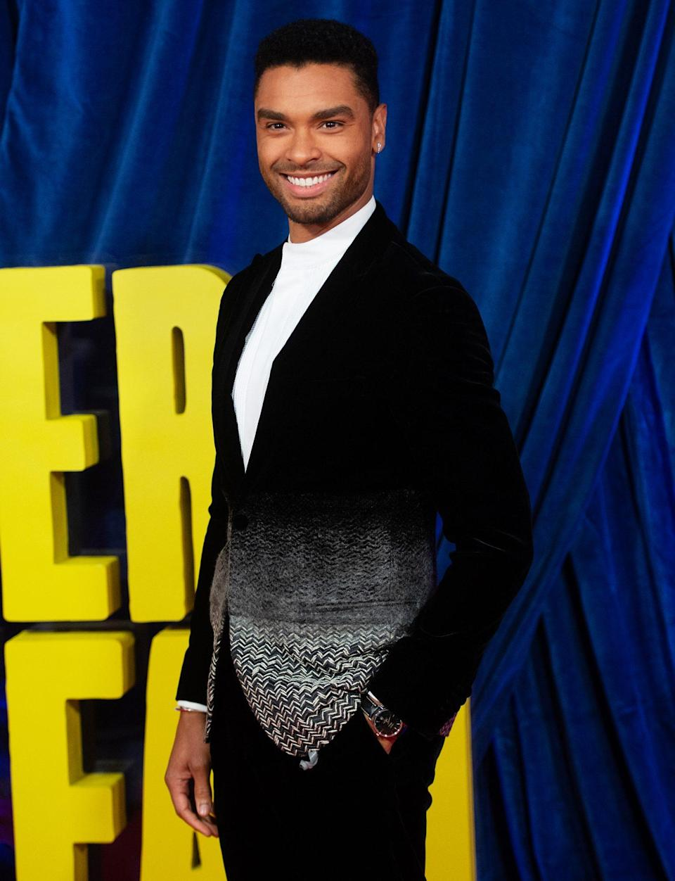 <p>Regé-Jean Page looks dapper at the world premiere of <i>The Harder They Fall </i>on Oct. 6 during the 65th BFI London Film Festival in London. </p>