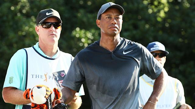 Someone has paid $50,000 to caddie for Tiger Woods at this year's Hero World Challenge. At least it's for charity, though.