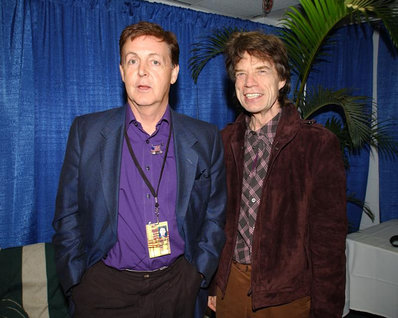 (EXCLUSIVE, Premium Rates Apply) Paul McCartney and Mick Jagger (Photo by Kevin Mazur Archive 1/WireImage)
