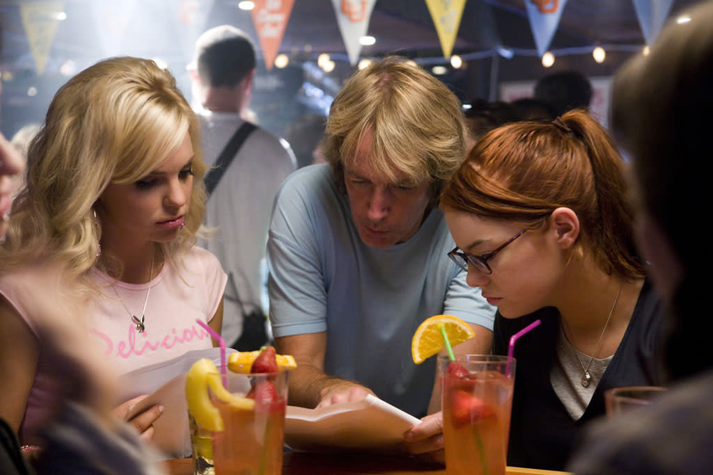 """<a href=""""http://movies.yahoo.com/movie/contributor/1800506130"""">Anna Faris</a>, director <a href=""""http://movies.yahoo.com/movie/contributor/1800106939"""">Fred Wolf</a> and <a href=""""http://movies.yahoo.com/movie/contributor/1809635883"""">Emma Stone</a> on the set of Columbia Pictures' <a href=""""http://movies.yahoo.com/movie/1809921361/info"""">The House Bunny</a> - 2008"""