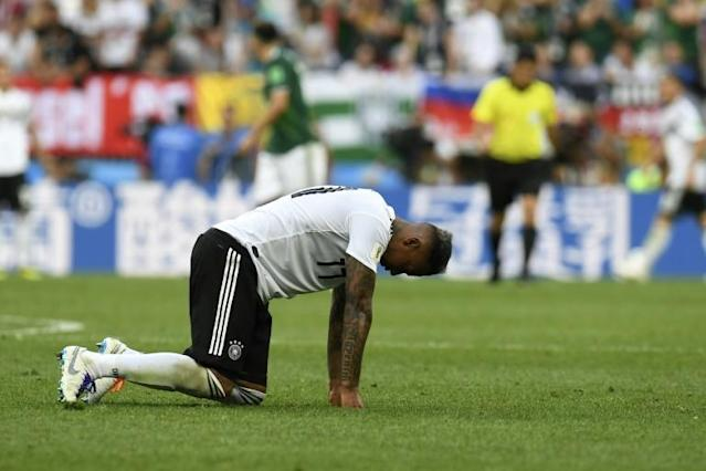 Germany's defence was unable to snuff out Mexico's first-half counter-attacks