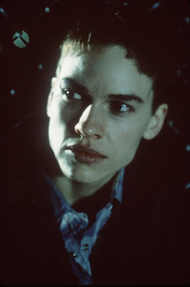 """<p><a rel=""""nofollow"""" href=""""http://www.wmagazine.com/topic/hilary-swank?mbid=synd_yahoolife"""">Actress Hilary Swank</a> cut her hair for her Oscar-winning role in the <em>Boys Don't Cry</em>.</p>"""