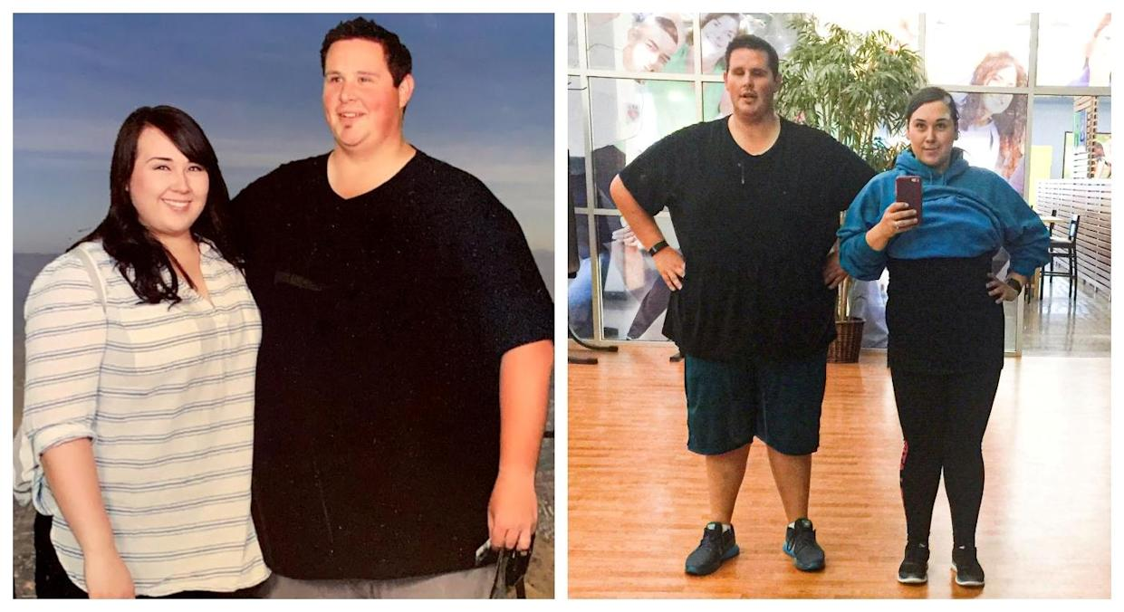 The pair both had gastric bypass surgery to aid their weightloss (SWNS)