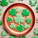 "<p>The hardest thing about this sugar cookie recipe is deciding whether you want to use royal icing or buttercream frosting. </p><p><u><em><a href=""https://www.delish.com/cooking/recipe-ideas/a30877659/st-patricks-day-cookie-recipe/"" rel=""nofollow noopener"" target=""_blank"" data-ylk=""slk:Get the recipe from Delish »"" class=""link rapid-noclick-resp"">Get the recipe from Delish »</a></em></u></p>"