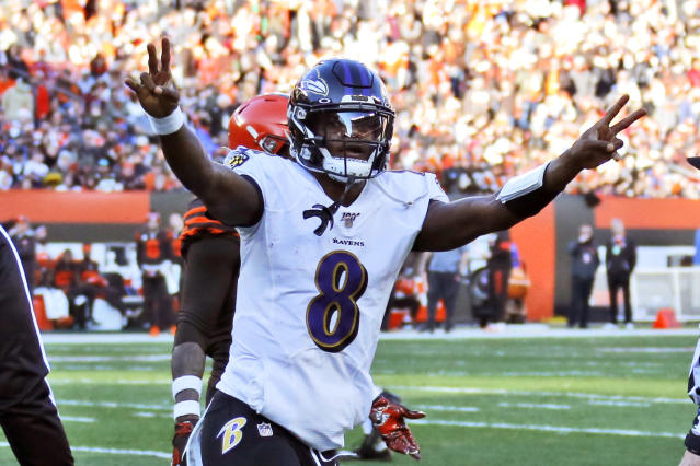 The Steelers will avoid Lamar Jackson and a number of other Ravens stars on Sunday. (AP Photo/Ron Schwane)