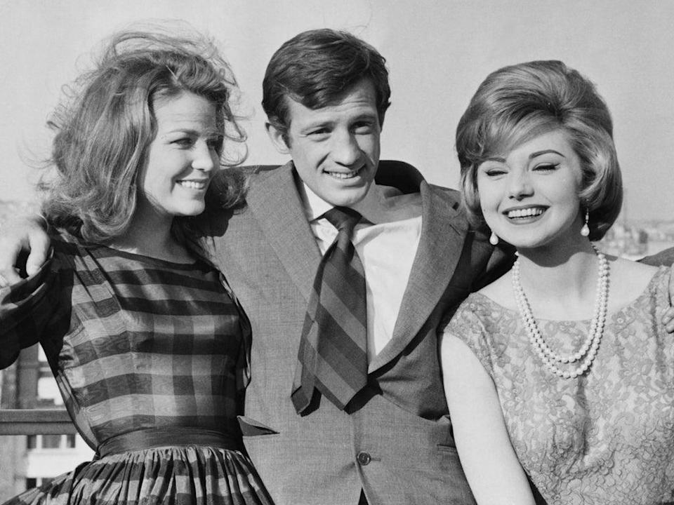 With his 'Les Distractions' co-stars Alexandra Stewart, left, and Sylva Koscina in 1960 (Getty)