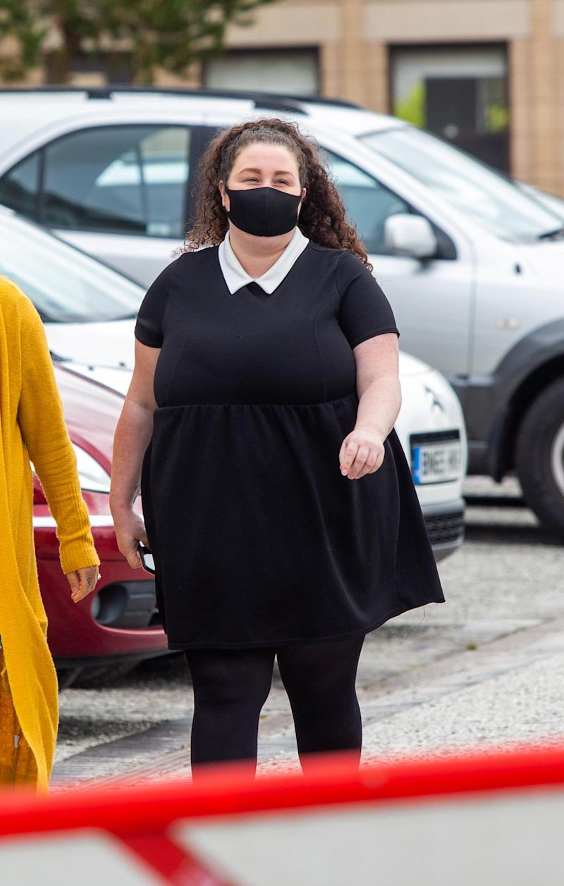 Tawnee Willis arrives at Truro Crown Court in Cornwall. (SWNS)