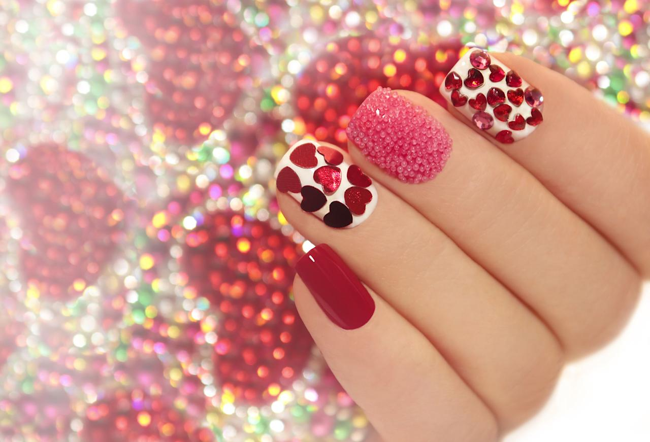 "<p>Make your manicure even more beloved by emulating one of these <a rel=""nofollow"" href=""https://www.countryliving.com/shopping/gifts/g1416/valentines-day-gifts/"">Valentine's Day</a> nail designs. Amateurs, experts, and everyone in between can recreate these <a rel=""nofollow"" href=""https://www.countryliving.com/diy-crafts/g5035/christmas-nail-art-ideas/"">beautiful looks</a>.</p>"