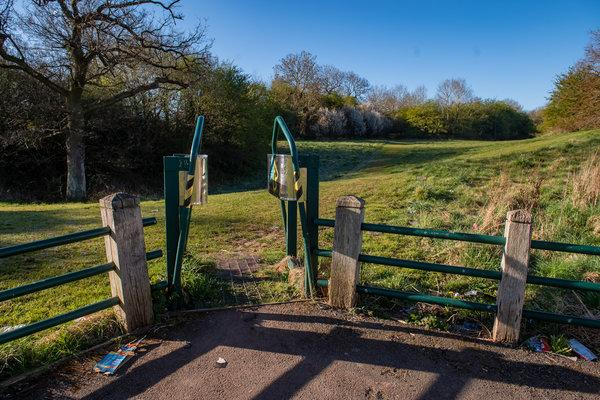 The park in Kings Norton, West Midlands, where the newborn was found (swns)