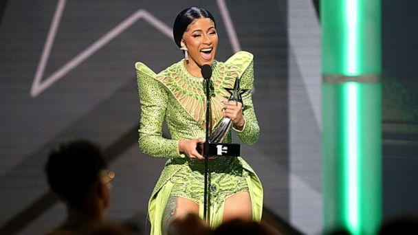 PHOTO:Cardi B accepts the Album of the Year award for 'Invasion of Privacy' onstage at the 2019 BET Awards at Microsoft Theater, June 23, 2019, in Los Angeles. (Frederick M. Brown/Getty Images, FILE)