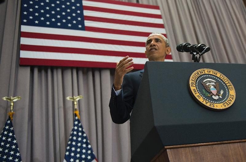 US President Barack Obama delivers remarks on the nuclear deal reached with Iran at American University in Washington, DC, August 5, 2015