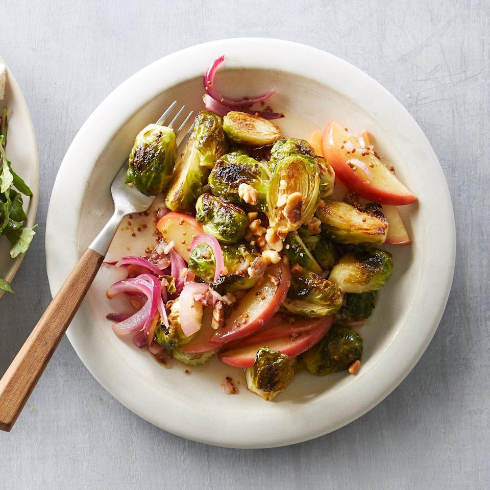 Roasted Brussels Sprouts with Cider Vinaigrette