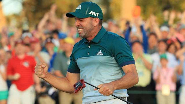 Masters winner Sergio Garcia wants a spot in the champions' locker room with hero Jose Maria Olazabal.
