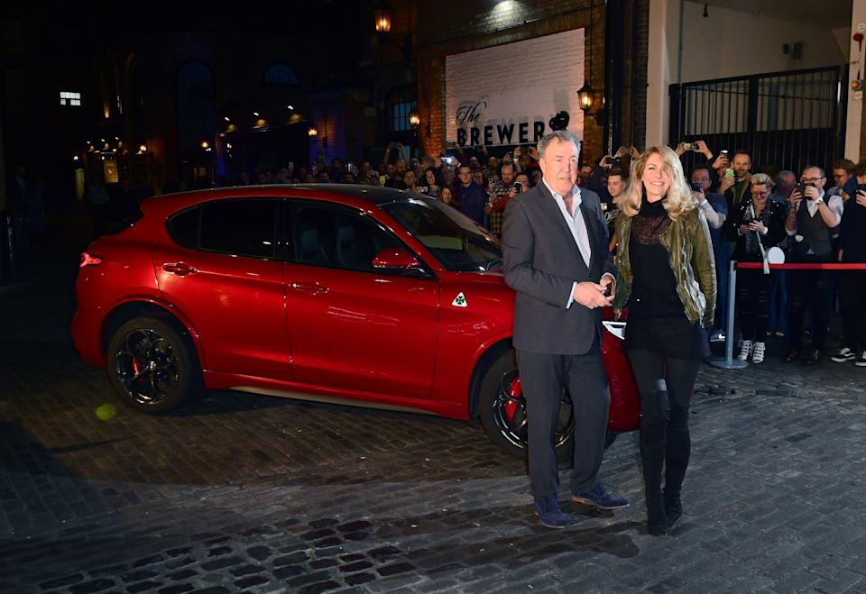 Jeremy Clarkson and Lisa Hogan attending a launch event and screening of The Grand Tour Series 3 screening at The Brewery, London.