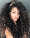 "If you want to add some dimension to your curls without an extreme change, go for bright highlights. ""This color works best for those with thicker, dark hair,"" says Tardo. ""The lighter ribbons of color give separation to highlight beautiful natural textures."" He says to ask for subtle ash bronde highlights."