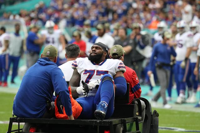 Bills tackle Ty Nsekhe still getting tests on injured ankle