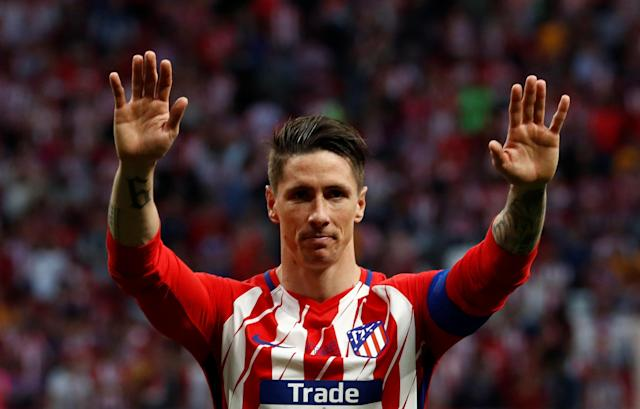 Fernando Torres in his last match for Atletico (Photo by REUTERS/Juan Medina)