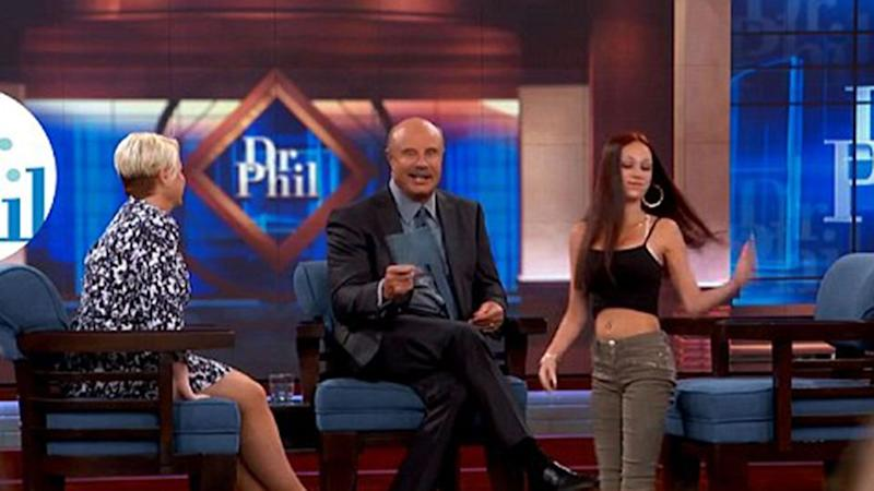 Her initial appearance on Dr Phil went viral when she tried to fight members of the audience. Source: Dr Phil