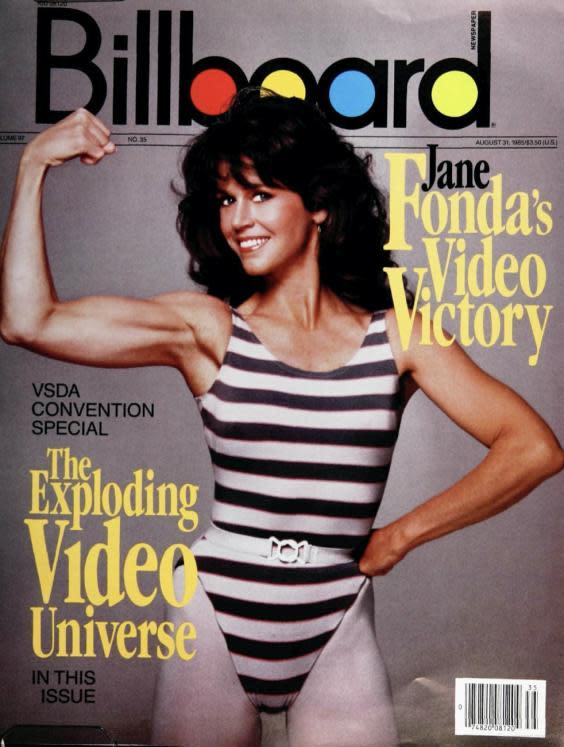Jane Fonda on the August 1985 cover of 'Billboard' (Billboard-Hollywood Reporter Media Group)