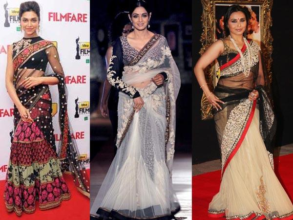 Lehenga-style saree is a stylish way to don a saree with intricate work, yet save on your time and efforts to make the cumbersome pleats look absolutely perfect. It is a trend catching up with today's fast-paced generation, which does not have time to tie a traditional saree while hassling their way with the pleats. In a lehenga-style saree, the bottom half comes pre-stitched just like a free flowing lehenga. So, opt for this if you want to look chic and ethnic at the same time.