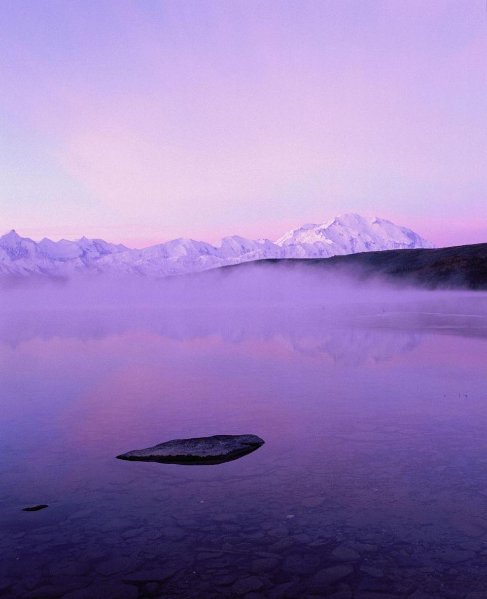 <p>Talk about your purple haze. You can almost feel the chill of air coming off Wonder Lake in the wee hours of the morning. </p>