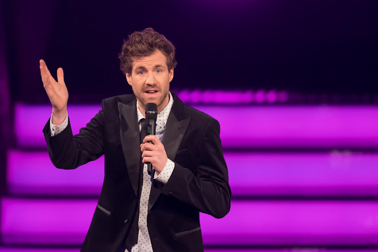 BOCHUM, GERMANY - DECEMBER 05: (BILD ZEITUNG OUT) Luke Mockridge looks on at the 1Live Krone radio award at Jahrhunderthalle on December 5, 2019 in Bochum, Germany. (Photo by TF-Images/Getty Images)