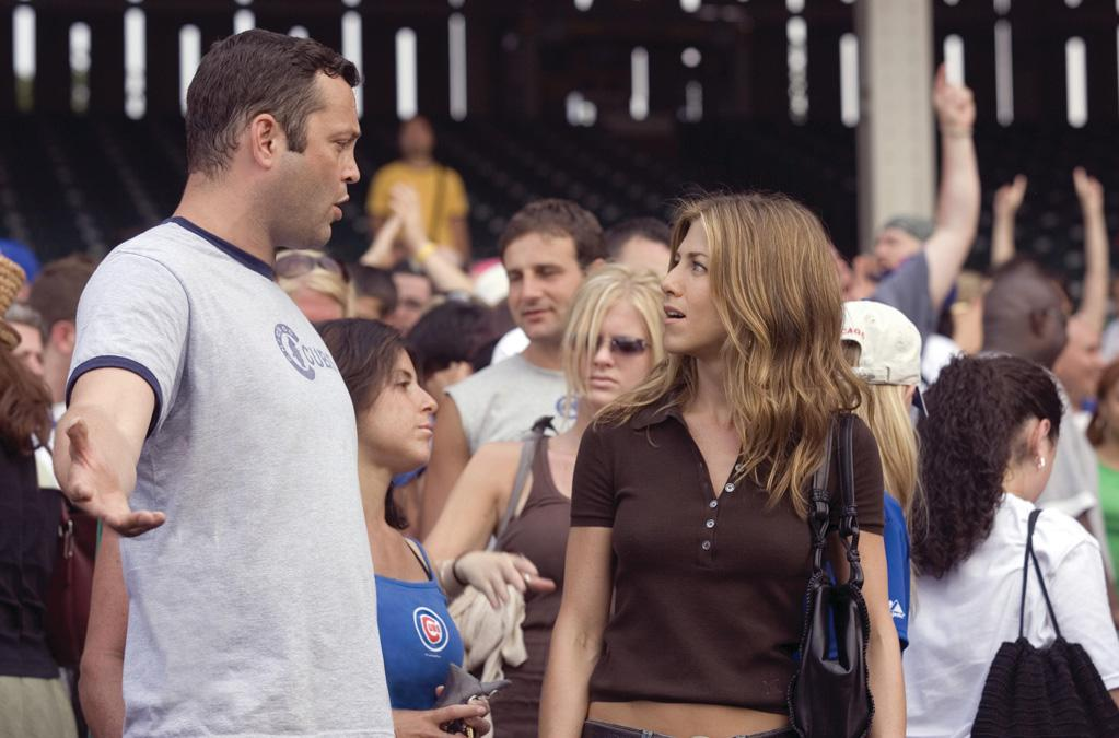 """<a href=""""http://movies.yahoo.com/movie/contributor/1800021397"""">JENNIFER ANISTON</a> & <a href=""""http://movies.yahoo.com/movie/contributor/1800018691"""">VINCE VAUGHN</a>  MOVIE: <a href=""""http://movies.yahoo.com/movie/1808665834/info"""">The Break-Up</a> (2006)   Reeling from her divorce from Brad Pitt, Jennifer Aniston signed up for a movie called """"The Break-Up,"""" an irony that the tabloids weren't shy about pointing out. Then the ironies kept piling up as she fell for costar Vince Vaughn, only to break up with him a few months after the movie came out."""