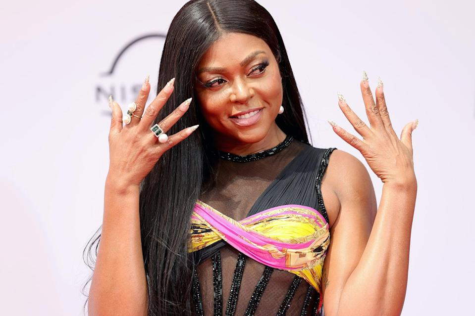 <p>Taraji P. Henson served up some of the best crystal stiletto nails we've seen in a very long time. If you're looking for an epic new set, consider this your sign to get all the crystals you can possibly dream of.</p>