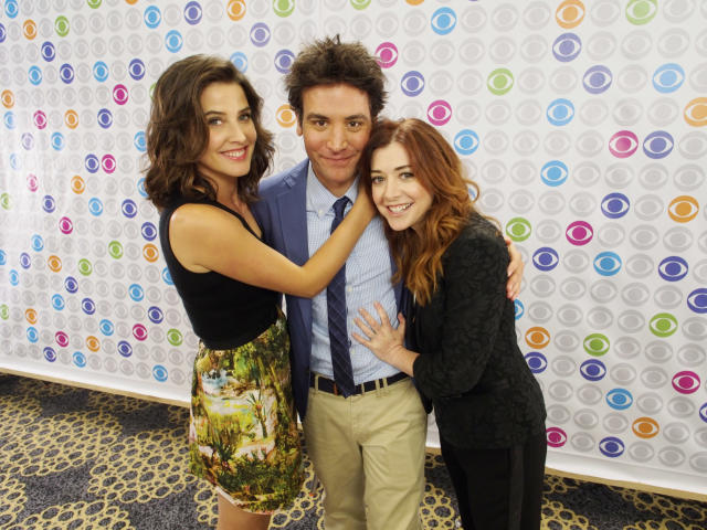 "Coby Smulders, Josh Radnor and Alyson Hannigan of ""How I Met Your Mother"" at the CBSi Junket at Comic-Con 2013, held in San Diego, Ca."