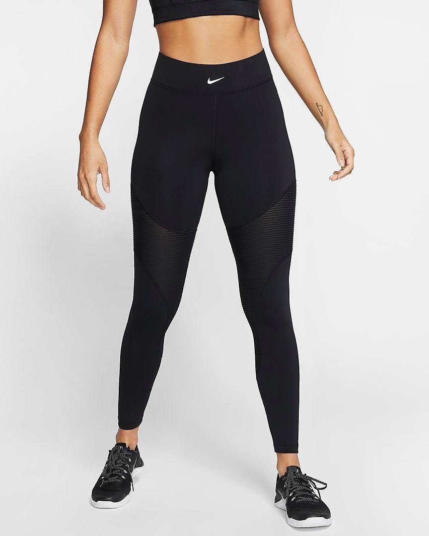 """<h3><h2>Nike Pro AeroAdapt Tights </h2></h3><br><strong><em>Overall Score: 3.9 </em></strong><em><br></em><br><strong>Stretch: 3.0</strong><br>Although these leggings are chic, I've definitely worked out in stretchier pairs. When I go for a run around Central Park, I feel a little more constricted than I do in some of the other brands I've tried. Because of this, I'd recommend them more for cross-training than yoga or jogging.<br><br>Sweat wicking: 4.0<br>I don't feel like my legs will drown in their own sweat after lunging in this pair of leggings, particularly since the sides are lined with sweat-activated vents that release heat. Although I tested them over a few months in the winter, I can't wait to try them in the summer because of this. No one wants to feel like their pants are trapping them in a vat of their own juices, especially in July. <br><br><em>— Molly</em> <br><br><strong>Nike</strong> Pro AeroAdapt Tights, $, available at <a href=""""https://go.skimresources.com/?id=30283X879131&url=https%3A%2F%2Fwww.ebay.com%2Fitm%2F393093799545"""" rel=""""nofollow noopener"""" target=""""_blank"""" data-ylk=""""slk:eBay"""" class=""""link rapid-noclick-resp"""">eBay</a>"""