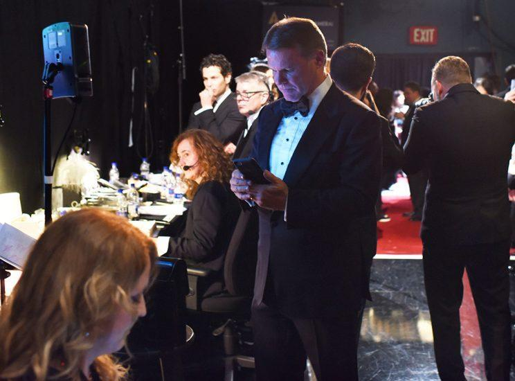 Brian Cullinan backstage at the 89th Annual Academy Awards (Photo: Andrew H. Walker/REX/Shutterstock)<br>