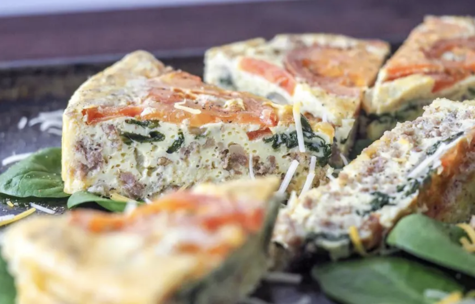 """<p>If you're in need of a healthy but speedy breakfast, look no further. This Instant Pot recipe requires minimal effort yet packs loads of flavor and fillings. </p> <p><a href=""""https://www.thedailymeal.com/best-recipes/instant-pot-breakfast-frittata-healthy?referrer=yahoo&category=beauty_food&include_utm=1&utm_medium=referral&utm_source=yahoo&utm_campaign=feed"""" rel=""""nofollow noopener"""" target=""""_blank"""" data-ylk=""""slk:For the Instant Pot Frittata recipe, click here."""" class=""""link rapid-noclick-resp"""">For the Instant Pot Frittata recipe, click here.</a></p>"""