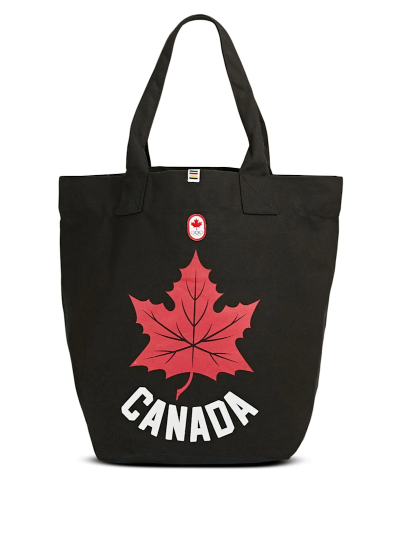 Canadian Olympic Team Collection Maple Leaf Canvas Tote Bag.