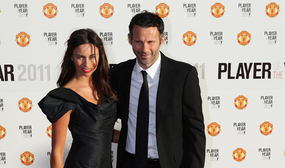 Manchester United's Ryan Giggs arrives with his wife Stacey for Manchester United 2011 Player of the Year award at Old Trafford, Manchester.   (Photo by Dave Thompson/PA Images via Getty Images)