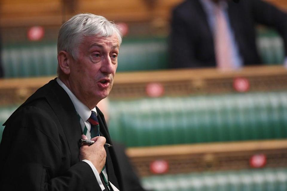 Speaker Sir Lindsay Hoyle said 'too many people have been targeted for their opinion or the office they hold' (UK Parliament/Jessica Taylor/PA) (PA Media)